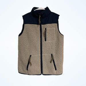 Prince and Fox Brown Teddy Soft Fuzzy Zip Up Vest
